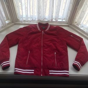 Brand new red jacket from a  smoke free home